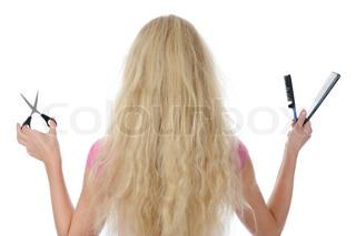schneiden haar haare stock foto colourbox