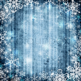 Abstract blue background with snowflake