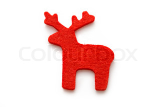 Reindeer on the white background