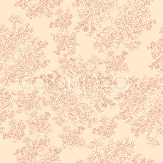 seamless retro pattern with rococo flowers, shabby chic motif