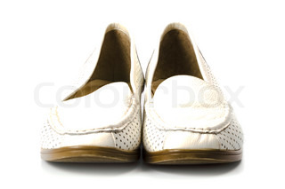 pair of shoes isolated on white background