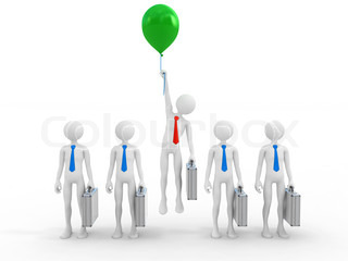 Leader Businessman Career Promotion. Stand out from the crowd