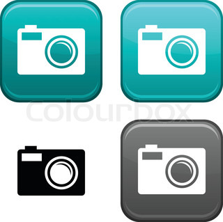 Photo square buttons. Black icon included.