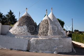 A trullo is a traditional Apulian stone dwelling with a conical roof The style of construction is specific to Itria Valley (Valle d'Itria), in the Murge area of the Italian region of Apulia