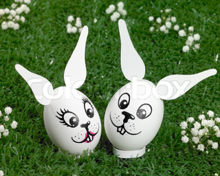 bunny eggs in green ambiance