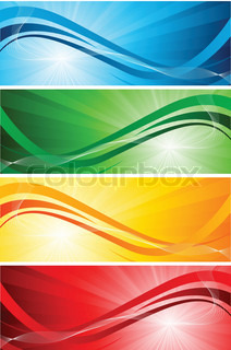 Vector set of bright banners clip-art
