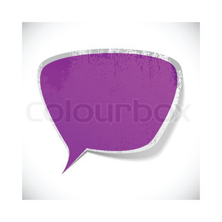 Vector illustration of Purple paper splash speech