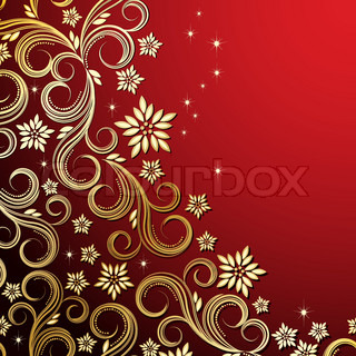Holiday floral background