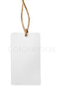 Blank price tag isolated over white background
