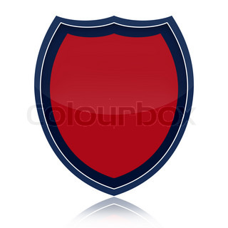 Security shield isolated on white