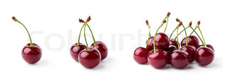 Single cherry, three cherries and group