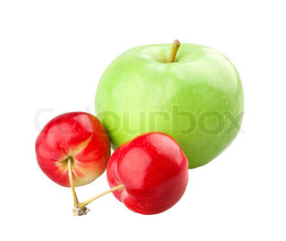 Green apple and two mini apples