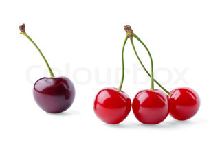 One cherry and three cherries