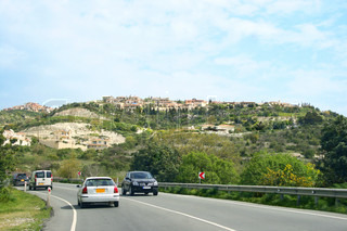 Road with cars in Cyprus