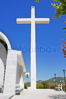 Big cross at the Cyprus village church