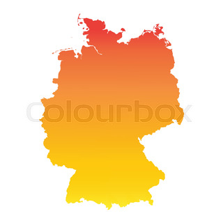 Vector Of Germany Map With German Flag Stock Vector Colourbox - Germany map vector