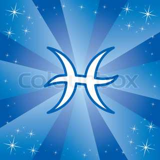 Vector illustration of zodiac sign Pisces