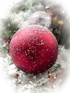 Views of Christmas tree ball ornaments, colourful and glistening, shining and full of promising joy
