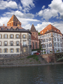 Old Strasbourg. Channels and Tower. France, Alsace