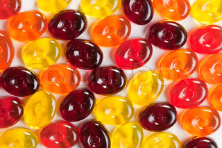 photo shot of colorful candy background