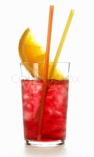 Glass with juice and grapefruit