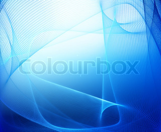 Abstract blue business, science or technology background