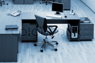 desk for work at modern and beautiful office