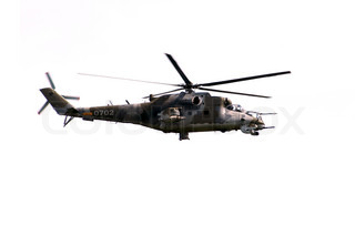 flying helicopter gunship Mi-24