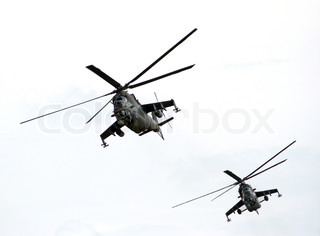 two helicopters - mi-24