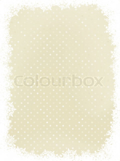 Elegant polka dot design frame with snowflakes. EPS 8 vector file included