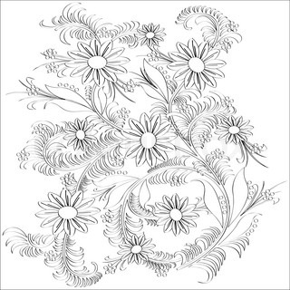 Hand-drawn line artflower designVector illustration