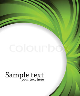 Vector abstract green background; clip-art