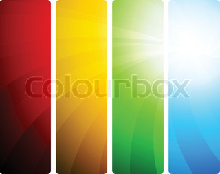 Bright set of banners