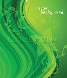 Background in green color with flower