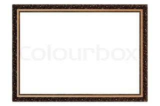 Gold antiken Rahmen isoliert auf weißem Hintergrund