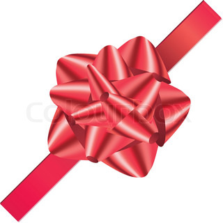 Christmas bow, red material, knot, big shiny, celebrate, satin, silk, july
