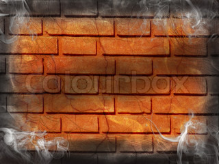 Halloween Dark Fire smoke vertical background brick