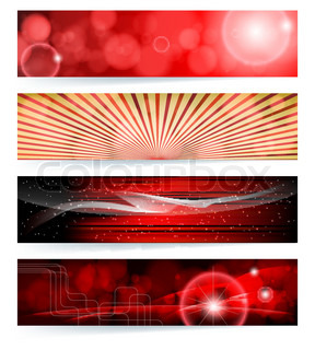 Vector set of abstract banners Blue Design EPS10 Vector Background