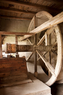 Winch and well - wooden historic water pump