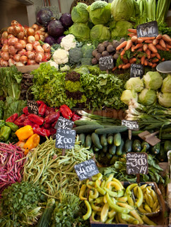 Vegetables market in Santiago, Chile