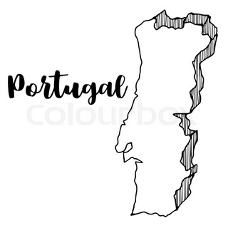 Highly Detailed Vector Map Of Portugal With Administrative Regions - Portugal map black and white