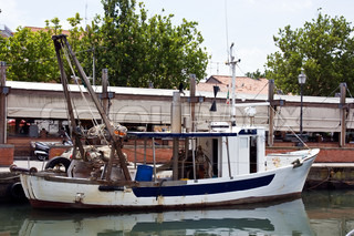Fishing-boat at the Chervias canal Italy