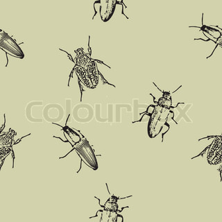 Seamless texture with insects