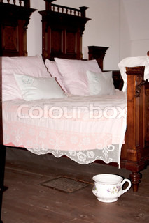 Vintage bedroom with chamber-pot