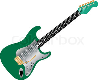 Pattern of color electric guitar for design use