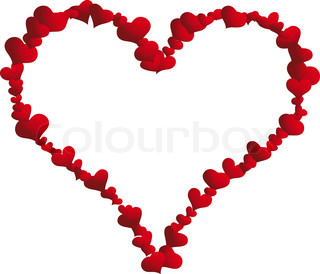 St. Valentine Day  vector  heart frame for design use