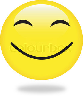 Vector smiley gule smiley Perfekt til ikon , knap, badge