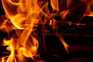 fire and flames - detail
