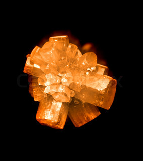 nice mineral aragonite isolated on the black background