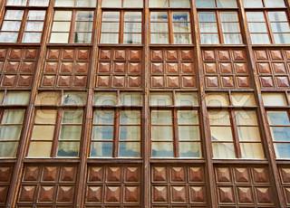 Die Fassade der Stadt- Apartment House in Burgos , Spanien